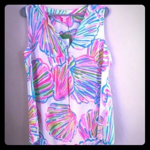 Lilly Pulitzer•Sleeveless Stacey Top•Shellabrate